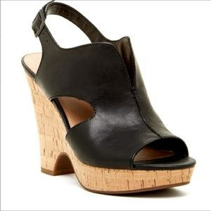 Franco Sarto Vamp Gallard Cork Wedge Sandals